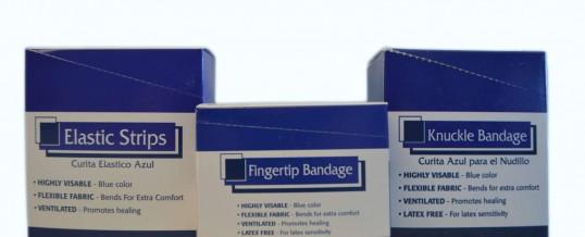 Blue Adhesive Bandages
