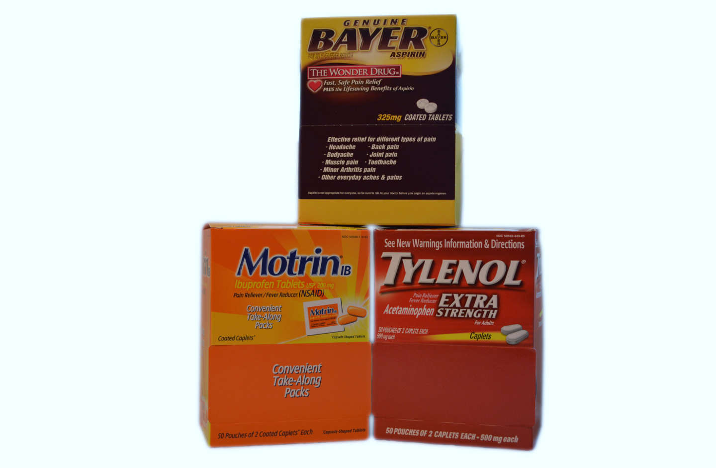 Motrin, Tylenol Extra Strength, Bayer