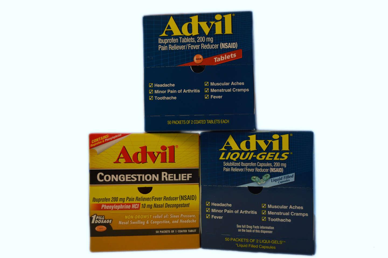 Advil, Advil Liqui-Gels, Advil Congestion Relief